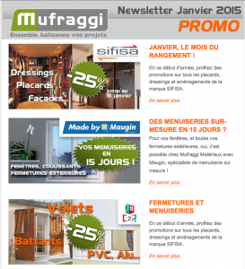 Newsletter Promotions Janvier 2015